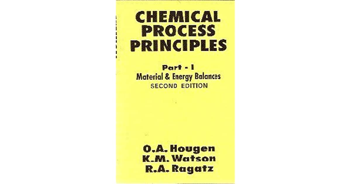 Solution Manual for Chemical Process Principles by Hougen ...