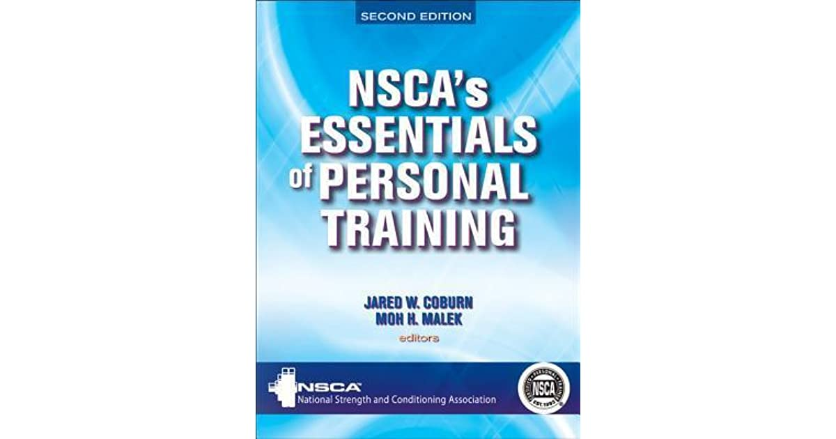 Nscas Essentials Of Personal Training By Jared W Coburn