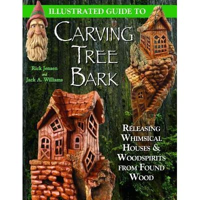 Illustrated guide to carving tree bark by rick jensen