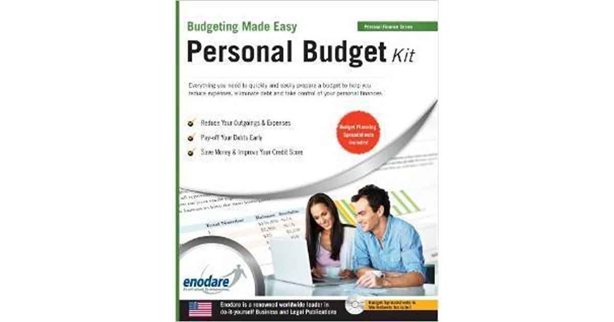 personal budget kit including financial software by enodare