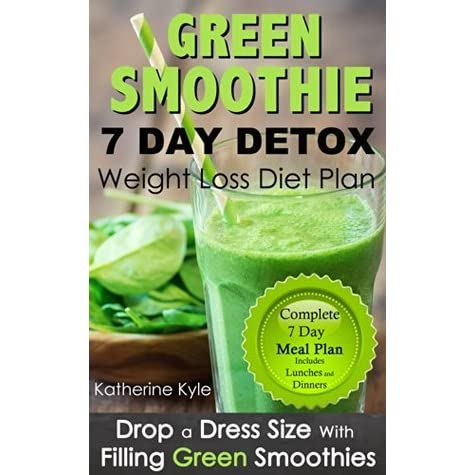 7 Day Green Smoothie Weight Loss Diet Plan Drop A Dress Size With Filling Green Thickies Detox By Katherine Kyle