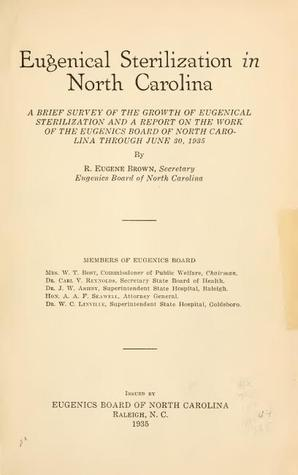 Eugenical sterilization in North Carolina (1935)