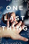 One Last Thing pdf book review