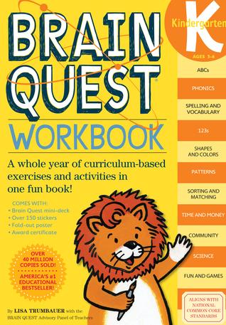 Brain Quest Kindergarten Workbook [With Stickers]