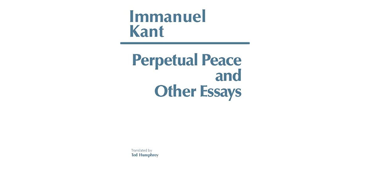 perpetual peace and other essays by immanuel kant