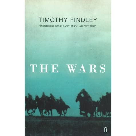 timothy findley the wars essays The animal imagery in timothy findley's the wars, is used creatively to develop a better understanding of the main character robert ross while reflecting on the situations that he facesthe first animal that robert encounters is a coyote in this parti.