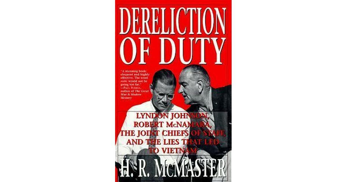 dereliction of duty mcmaster pdf