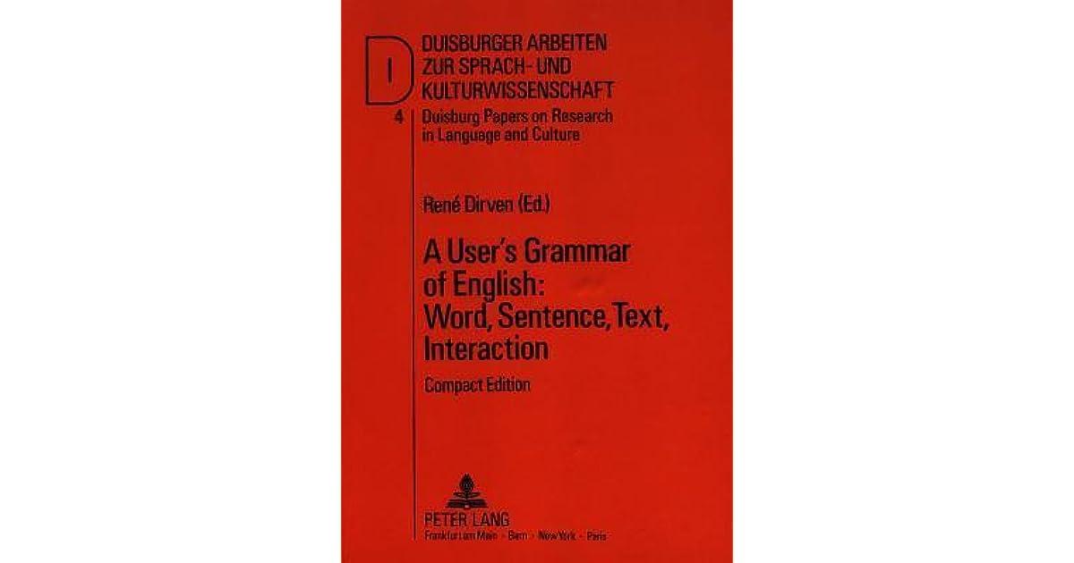 A User U0026 39 S Grammar Of English  Word  Sentence  Text