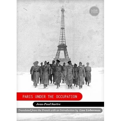 paris under the occupation by jean paul sartre