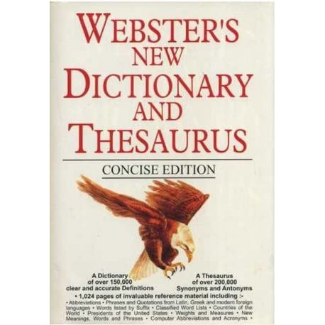 Websters New Dictionary and Thesaurus by Anonymous