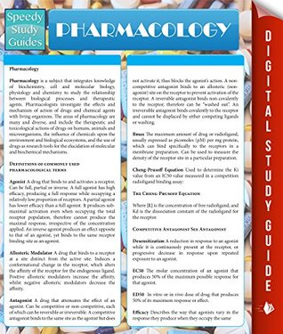 Pharmacology (Speedy Study Guides)
