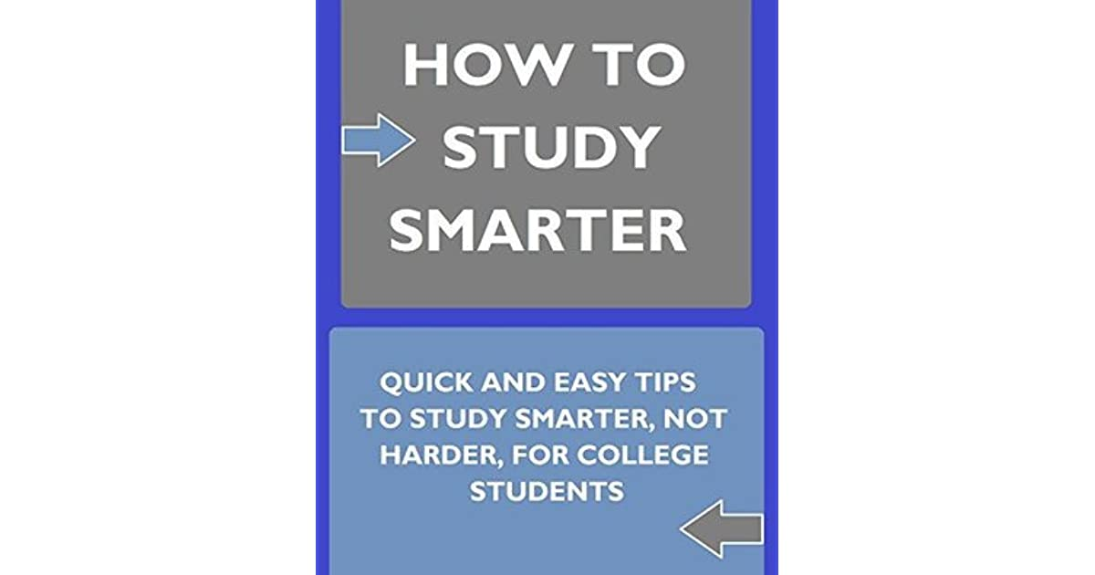 Study Smarter Not Harder Book