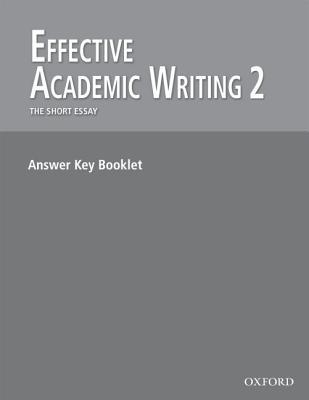 Effective Academic Writing 2: The Short Story Essay answer key