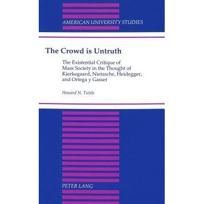 crowd is the untruth This, which is now considerably revised and enlarged, was written and intended to accompany the dedication to that single individual, which is found in upbuilding discourses in various spirits copenhagen, spring 1847soren kierkegaard.