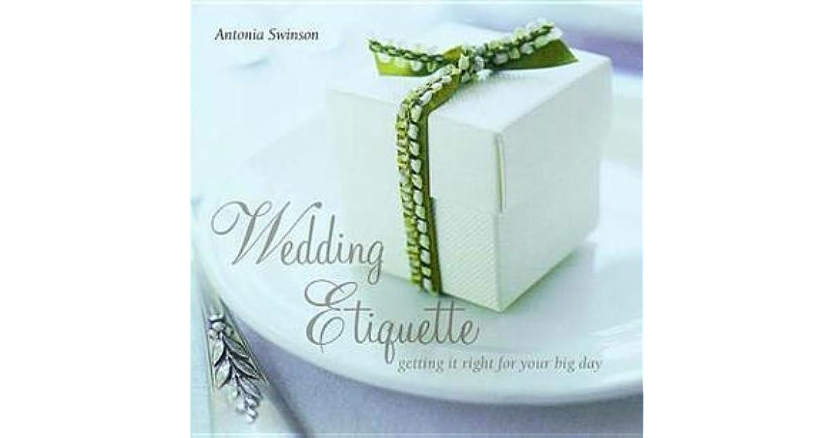 Wedding Etiquette Books: Wedding Etiquette By Antonia Swinson