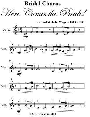 Bridal Chorus Here Comes the Bride! Easy Violin Sheet Music