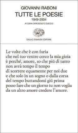 Tutte le poesie by Giovanni Raboni