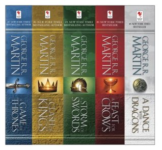 A Song of Ice and Fire, 5-Book Boxed Set: A Game of Thrones, A Clash of Kings, A Storm of Swords, A Feast for Crows, A Dance with Dragons