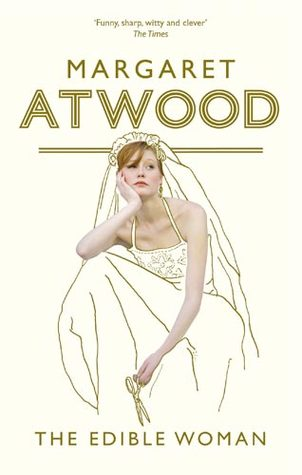Cover for The Edible Woman with a woman in a bridal dress on the front