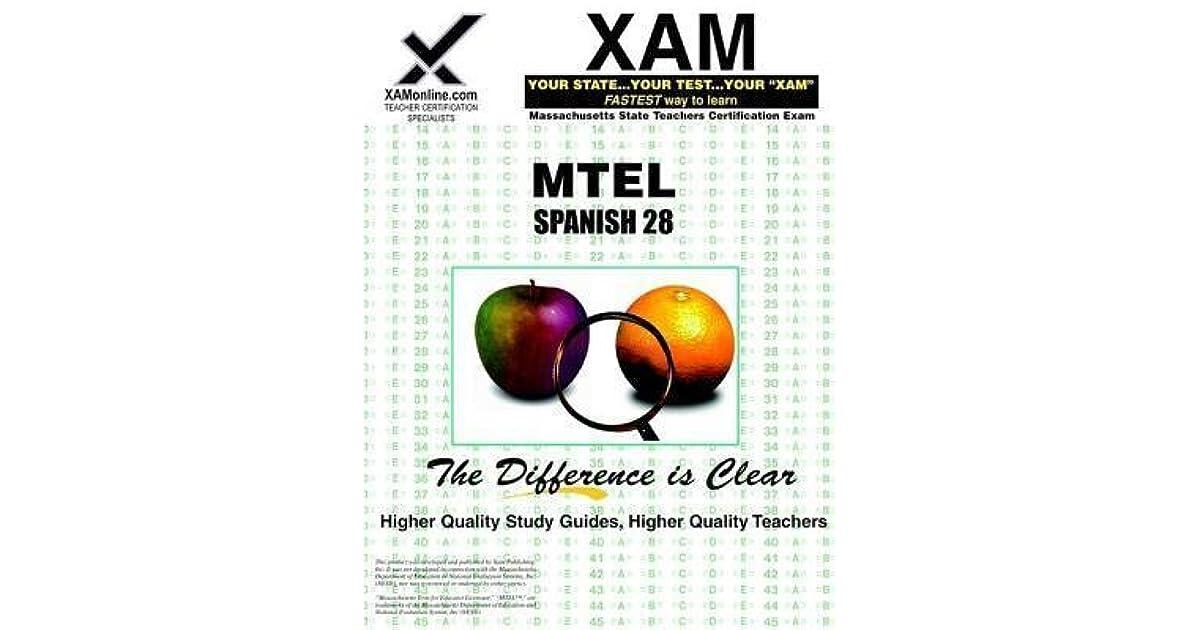 Mtel Spanish 28 Teacher Certification Test Prep Study Guide Teacher