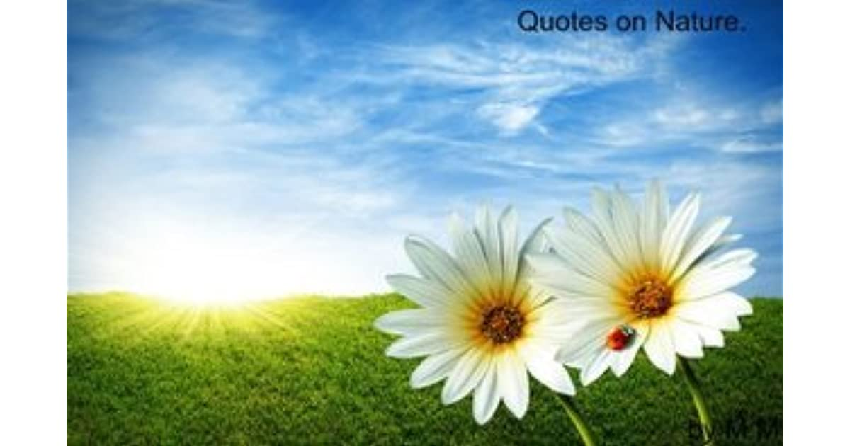 Nature Quotes By Mary Bm