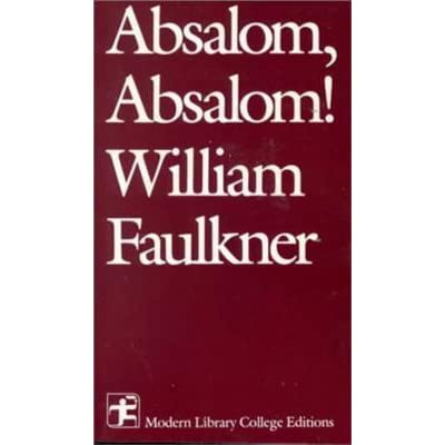 the american legacy of slavery in absalom absalom by william faulkner The depiction of slavery in william faulkner's novel absalom, absalom - laura commer - essay - american studies - literature - publish your bachelor's or master's thesis, dissertation, term paper or essay.