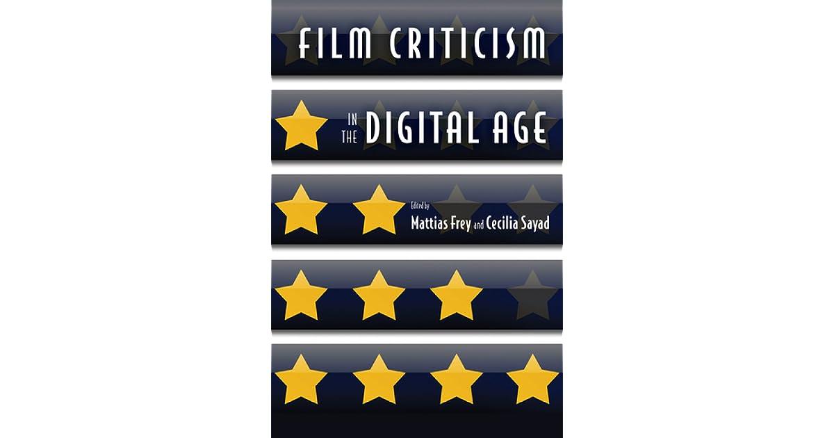 Film Criticism In The Digital Age By Mattias Frey