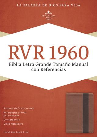 RVR 1960 Biblia Letra Grande Tamaño Manual con Referencias, cobre/marrón profundo símil piel