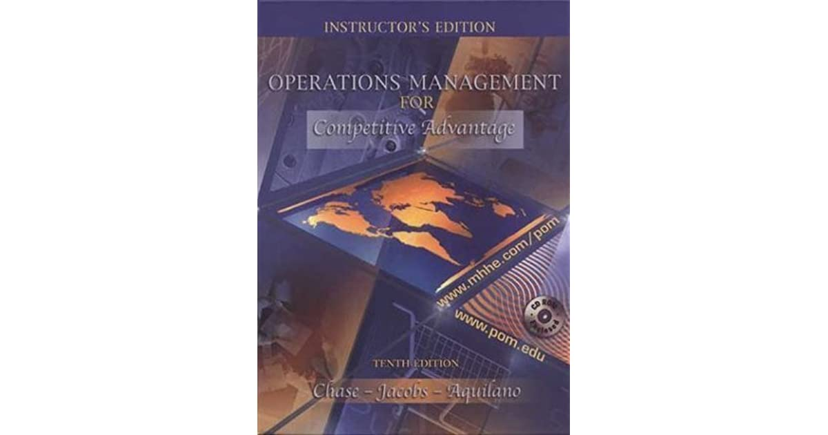 Operations Management Chase Jacobs Aquilano Pdf