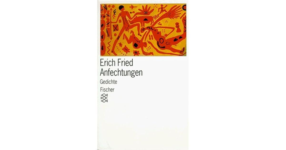 Anfechtungen Fünfzig Gedichte By Erich Fried