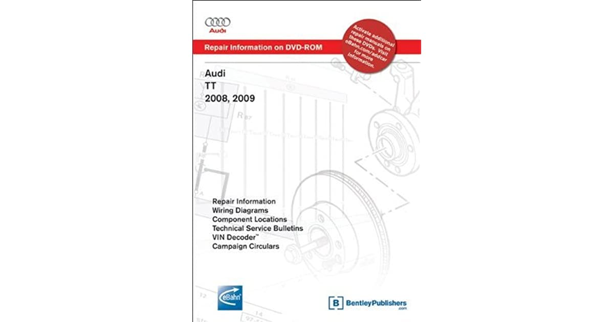 audi tt wiring diagram audi tt 2008  2009 repair manual on dvd rom by audi of america  audi tt 2008  2009 repair manual on