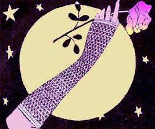 Goth Evening Mitts Vintage Crochet Pattern EBook Digital Download Needlecrafts
