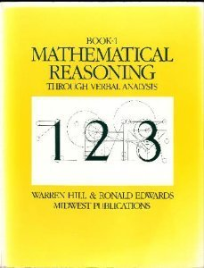 Mathematical Reasoning through Verbal Analysis: Book 1