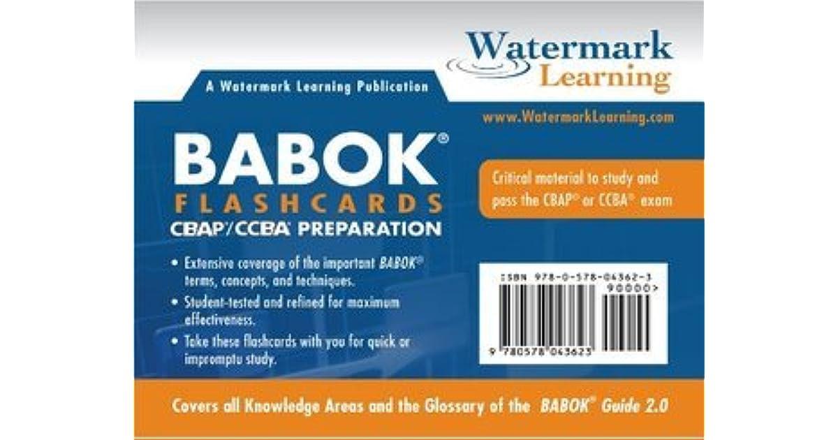 BABOK Study Flashcards by Richard Larson