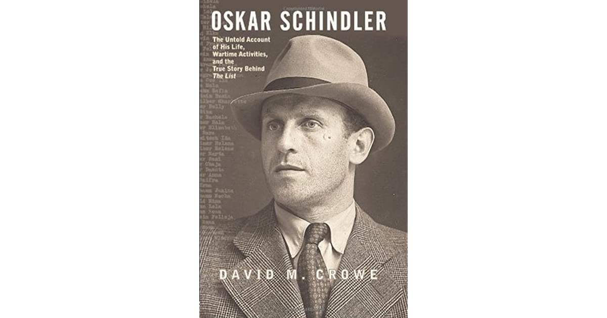 the life and times of oskar schindler The life and times of porter rockwell [harold schindler] on amazoncom free shipping on qualifying offers this is actually a vhs tape may be in black and white.