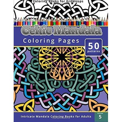 Celtic Mandala Coloring Pages Intricate Books For Adults By Chiquita Publishing