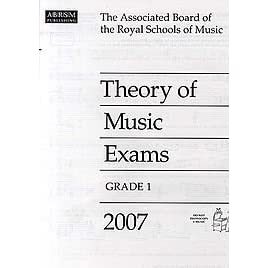 Theory of Music Exams 2007: Grade 1 by Associated Board of the Royal