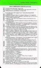 Tarascon Cardiac Arrest/Emergency Reference Card 2008 (Tarascon Ocket Phamacopoia)
