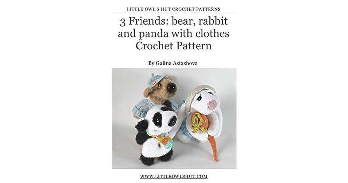 Panda Amigurumi Häkelanleitung von Little Bear Crochets | 630x1200