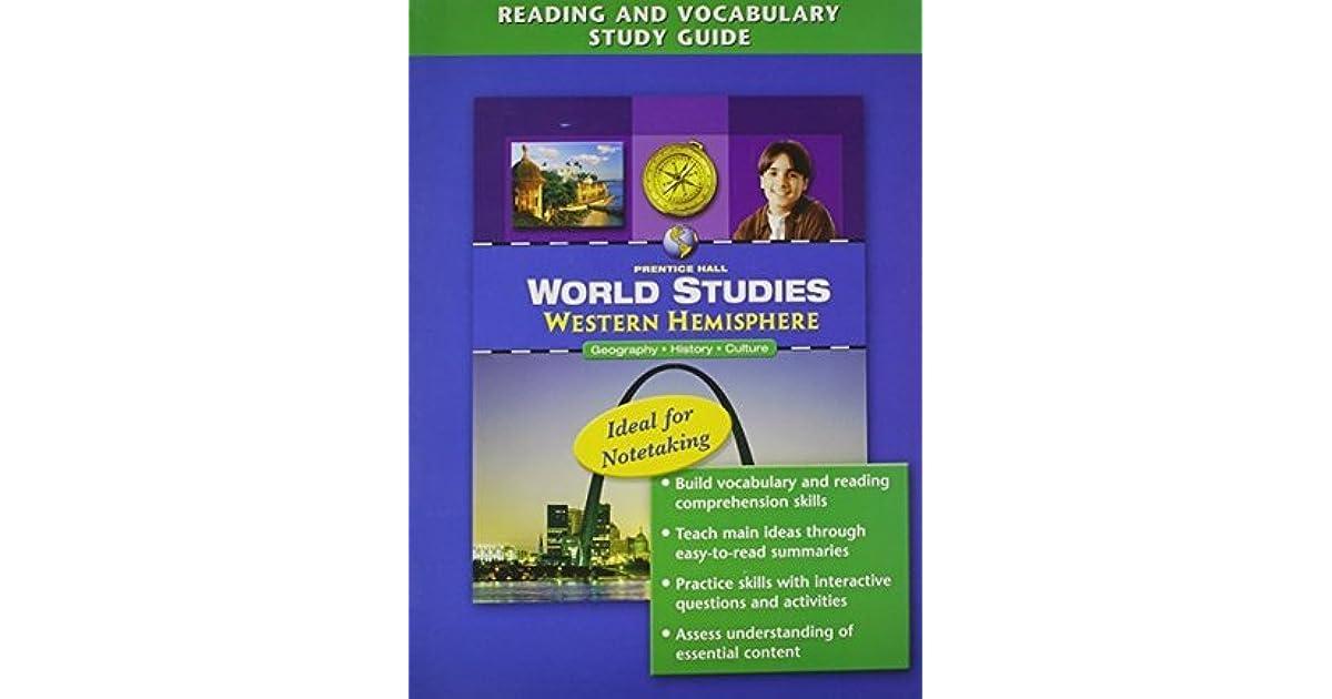 World Studies Western Hemisphere Reading And Vocabulary