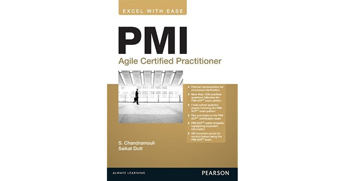 Pmi Agile Certified Practitioner By Subramanian Chandramouli