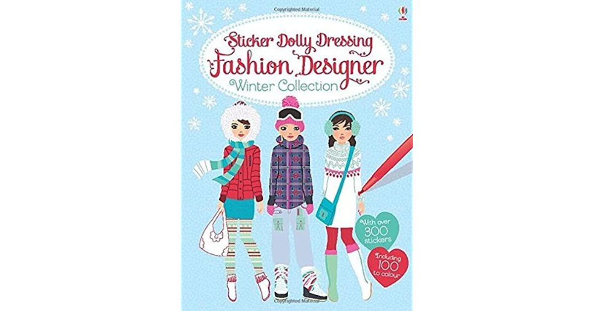 Sticker Dolly Dressing Fashion Designer Winter Collection By Fiona Watt