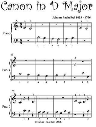 Canon In D Pachelbel Beginner Piano Sheet Music By Johann