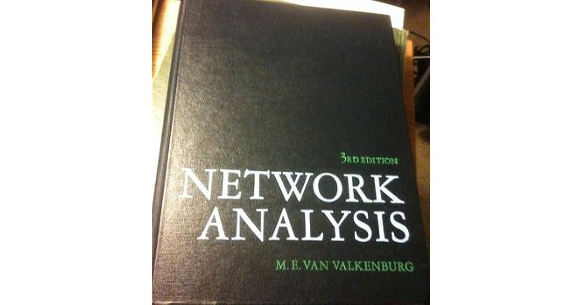 Van Valkenburg Network Analysis Pdf