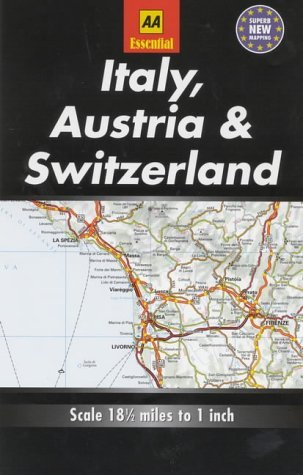 Essential Road Map Italy, Austria and Switzerland (AA Essential European Road Maps)