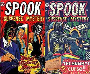 Spook Suspense Mystery. Issues 23 and 24. Weird Picture Murder. Includes the Mummy's Curse. Golden Age Digital Comics Paranormal.