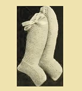 Infant's Crocheted Bootees - Columbia No. 1 - Vintage Crochet Pattern [Annotated]