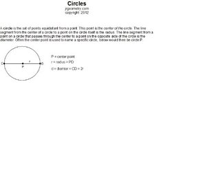Circles (Geometry Study Guide Downloads Book 4)
