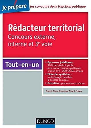 Concours Rédacteur territorial : Tout-en-un (Fonction Publique Territoriale t. 1)