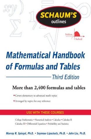 Schaum's Outline of Mathematical Handbook of Formulas and Tables, 3ed (Schaum's Outline Series)